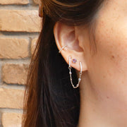 Large Diamond Hoops (pair)