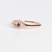 Rose Gold Evil Eye Ring