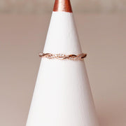 Diamond Twist Rose Gold Ring
