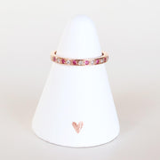 Ruby & Diamond Rose Gold Band