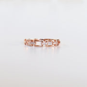 Diamond Buckle Rose Gold Ring