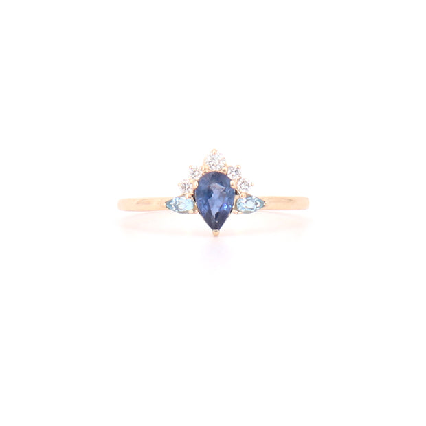 Sapphire Crown Ring