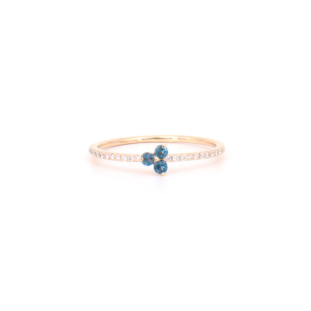 London Blue Topaz Tripod Ring
