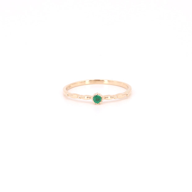 Tulip Emerald Ring