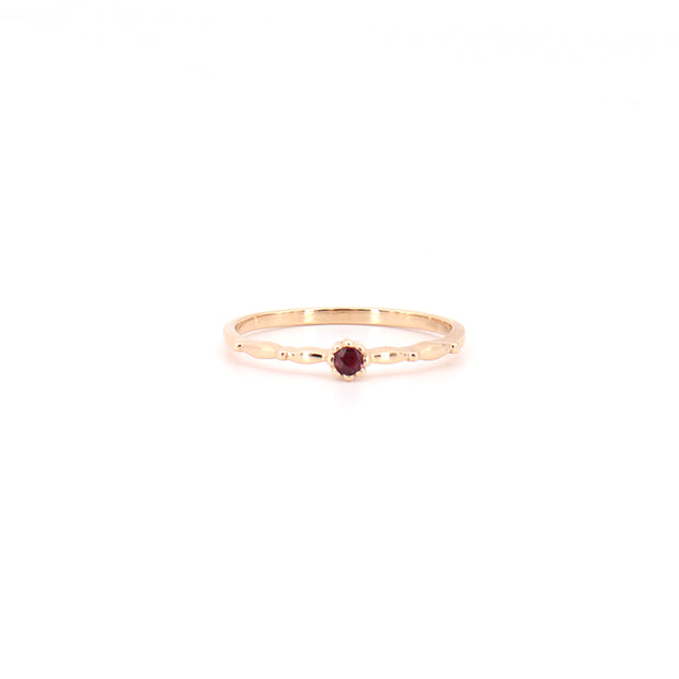 Tulip Ruby Ring