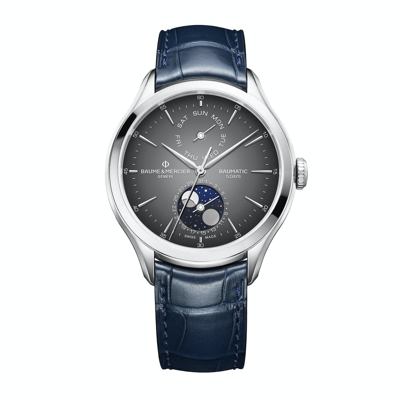 Baume & Mercier Baumatic DayDate Moon-Phase Steel