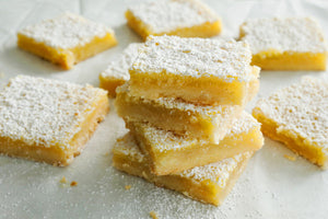 Lemon Squares with a twist: Flax Seed Meal