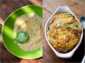 Green Tomato and Swiss Chard Gratin