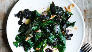 Sauteed Swiss Chard with Garlic and Basil