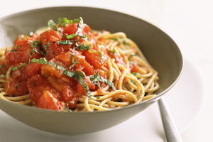 Pasta with fresh Tomato Sauce can be a balanced, high Omega-3 dinner too!
