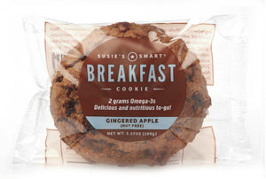 Display Box of 18 Gingered Apple Breakfast Cookies -- all natural and rich in Omega-3s!