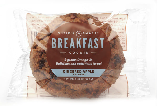 Gingered Apple Breakfast Cookie -- all natural and rich in Omega-3s!