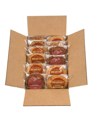 Mixed Box Offer of 7 Banana Coconut and 7 Cocoa Breakfast Cookies