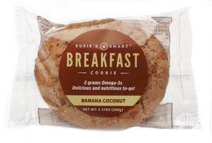 Display Box of 18 Banana Coconut Breakfast Cookies -- all-natural and rich in Omega-3s!