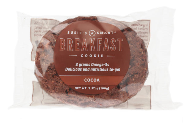Cocoa Breakfast Cookie -- all natural and rich in Omega-3s!