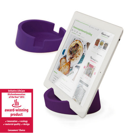 Silicone Tablet Stand for Kitchen / Office  (Purple/Silicone)