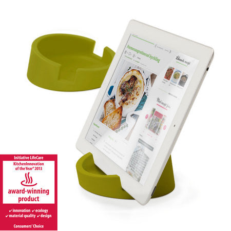 Silicone Tablet Stand for Kitchen / Office  (Green/Silicone)