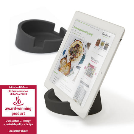 Silicone Tablet Stand for Kitchen & Office (Graphite Grey/Silicone)