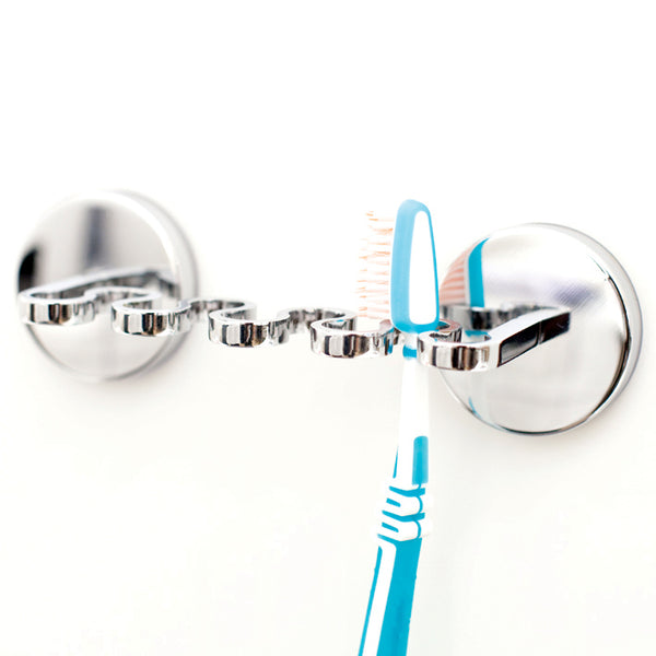 Round Suction Toothbrush Holder (Up to 4)