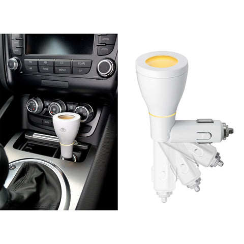 Jazz Set, Serene Pod® Car Scent Diffuser, White