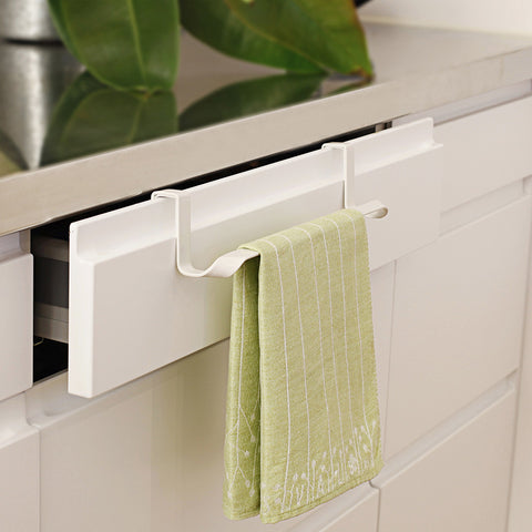 Hand Towel Rack Cabinet Hook, White (1 per pack)