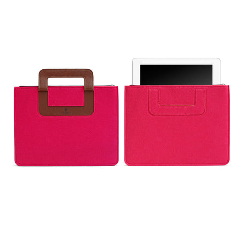 iPad Carrying sleeve, Solid - Rubine Red