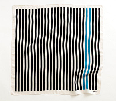 French Stripe, black Teal