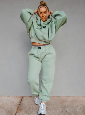 BOX LOGO TRACKIES - PISTACHIO