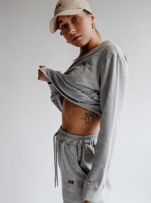 WARM-UP SWEATER - GREY MARLE