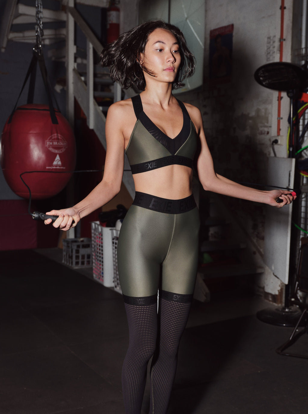 OXYGEN LEGGINGS - KHAKI