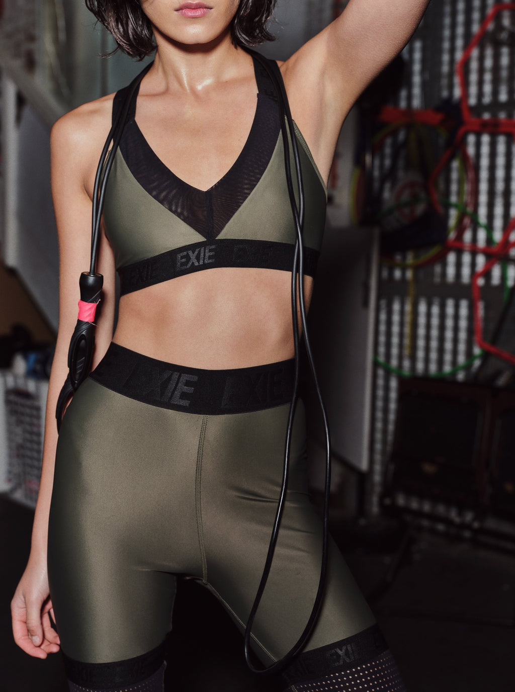 X-BACK SPORTS BRA - KHAKI
