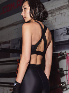 X-BACK SPORTS BRA - BLACK