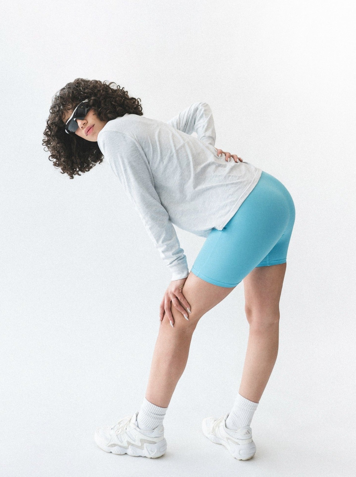 TREBLE BIKE SHORTS - TEAL