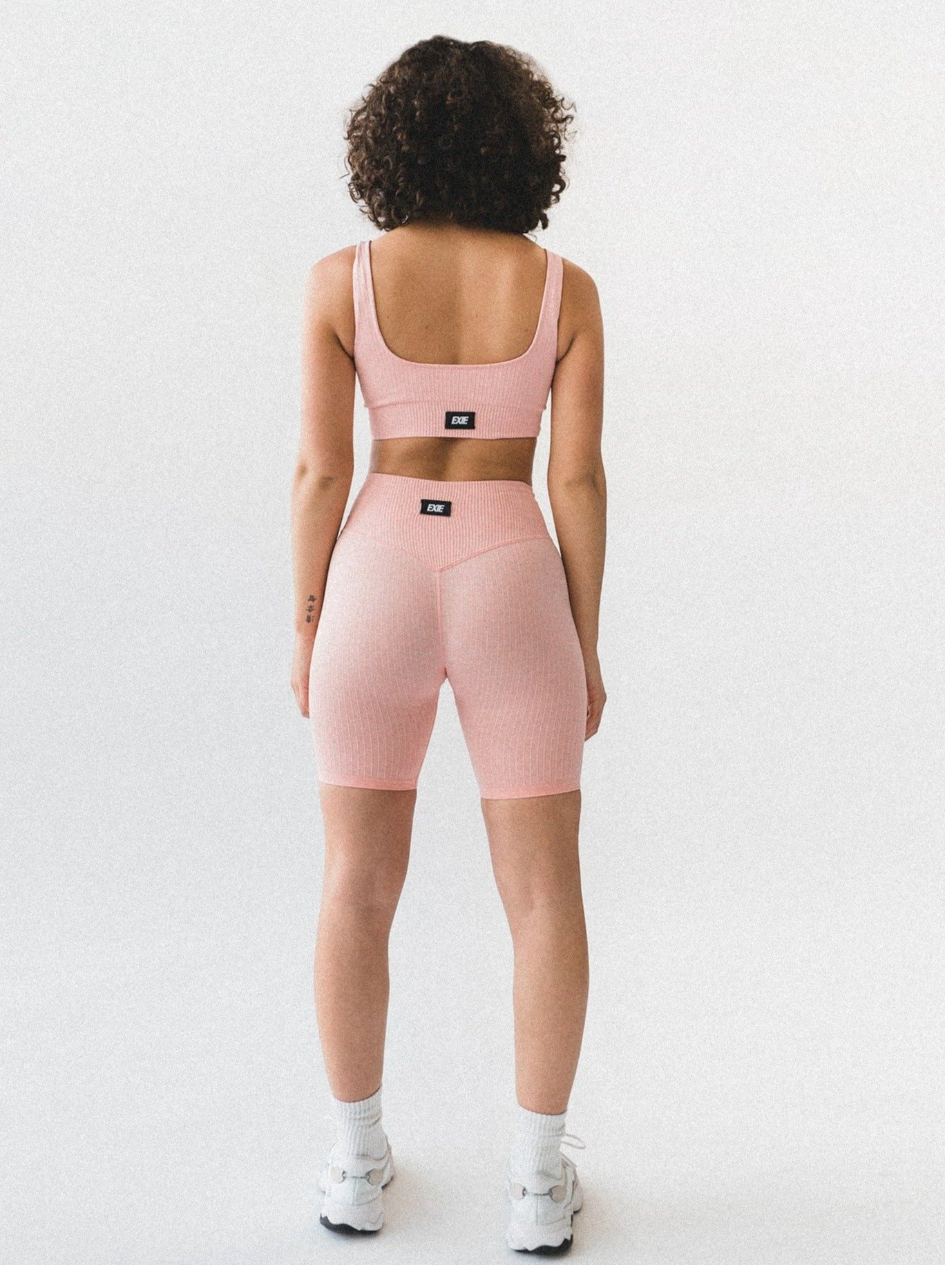 FLEX BIKE SHORTS - PEACH