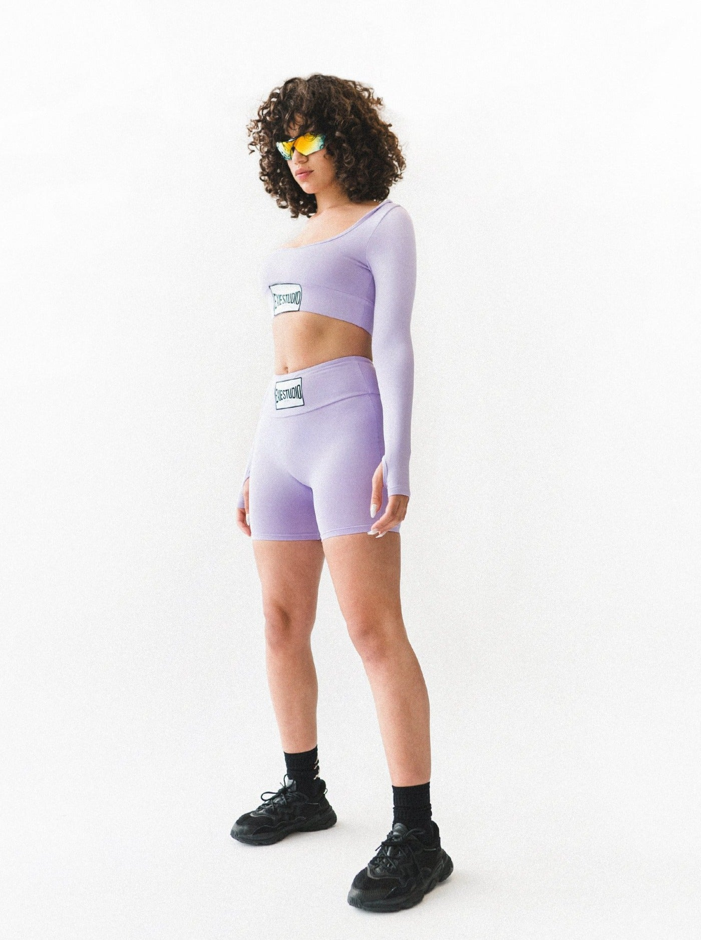 TREBLE BIKE SHORTS - VIOLET