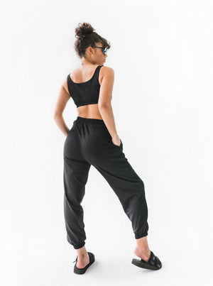 LUCIA TRACK PANTS - BLACK