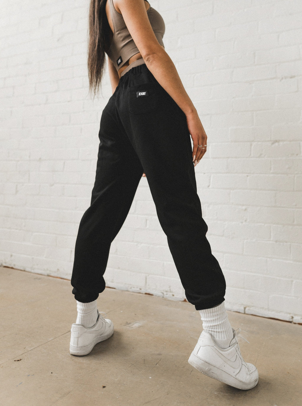 WARM-UP TRACK PANTS - BLACK