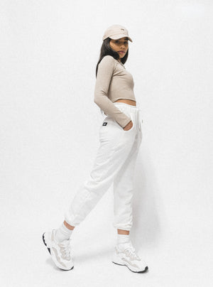WARM-UP TRACK PANTS - WHITE