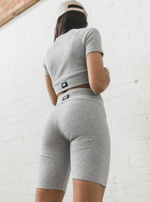 INHALE SHORTS - LIGHT GREY