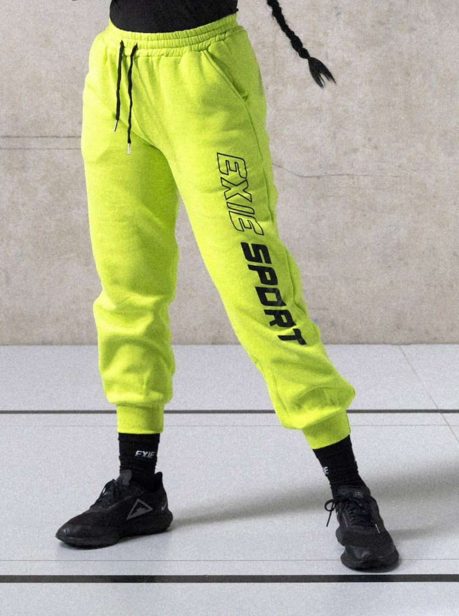 EXIE SPORT SWEAT PANTS - FLURO YELLOW