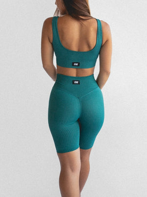 FLEX BIKE SHORTS - TEAL