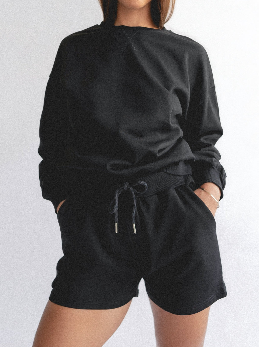PIJAMA SWEATER - BLACK