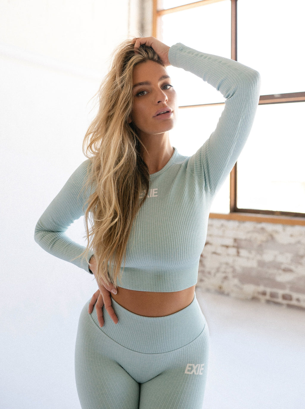 FLEX LONG SLEEVE TOP - MINT