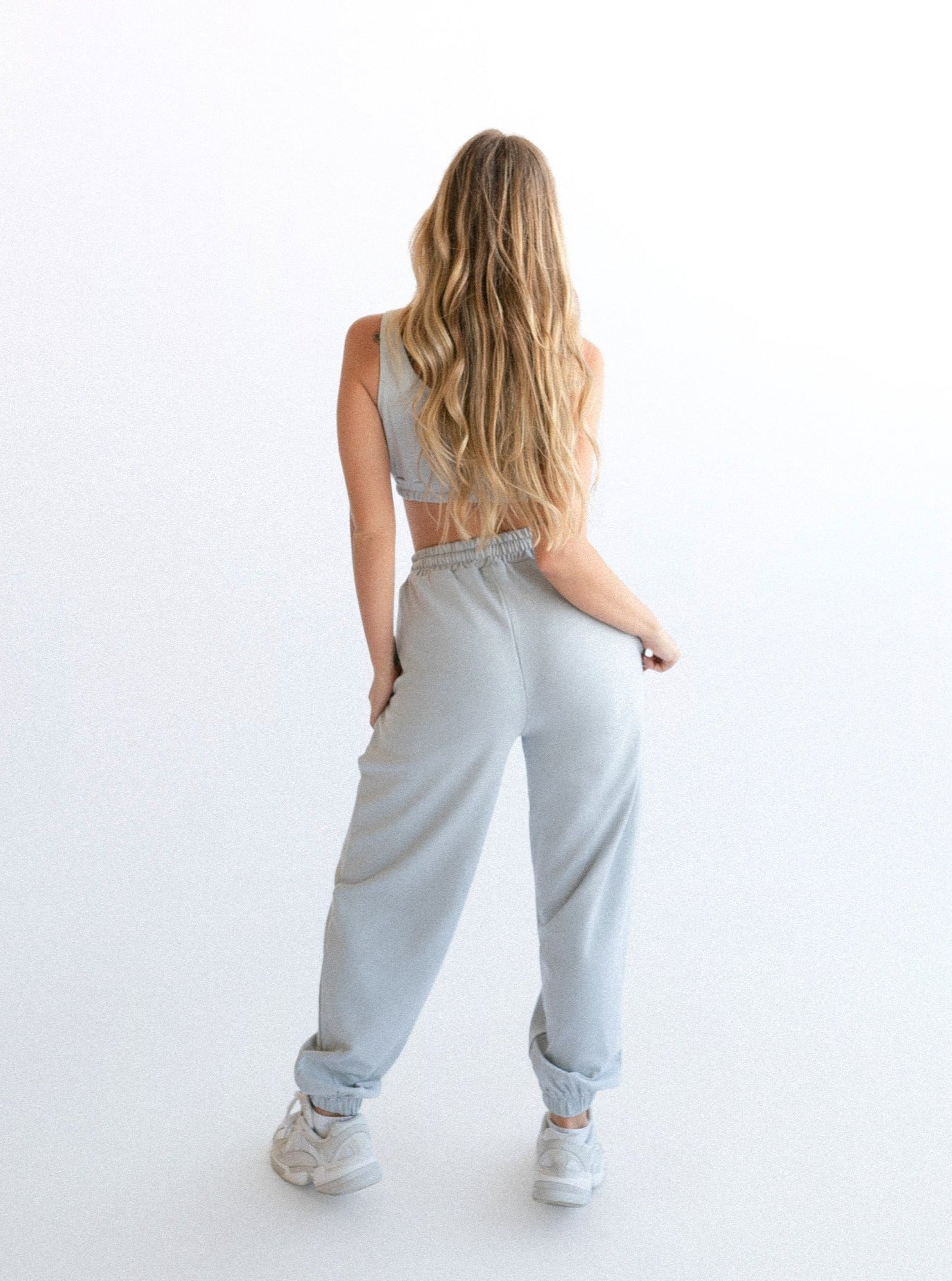 LUCIA TRACK PANTS - GREY