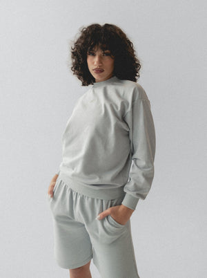 LOUNGE SHORTS - LIGHT GREY