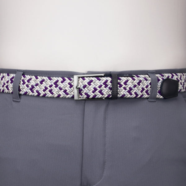 Purple, Grey, & White Elastic Belt