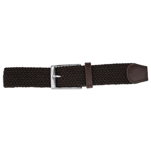 Solid Dark Brown Elastic Belt