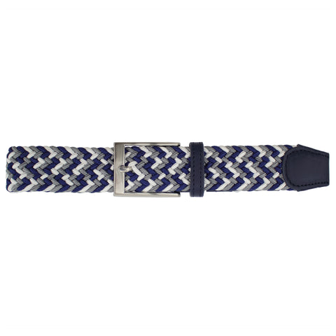 Charcoal, White, & Navy Elastic Belt