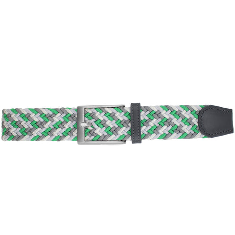 Green, White, Light Grey, & Charcoal Elastic Belt