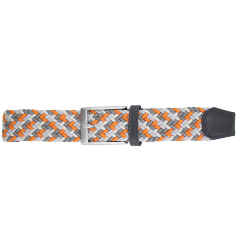 Orange, Light Grey, White, & Charcoal Elastic Belt